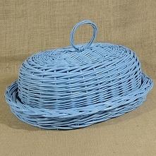 Wiklinowy chlebak owalny błękitny