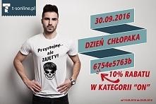 """UWAGA!!!! Od dziś 10% RABATU dla WSZYSTKICH z okazji nadchodzącego dnia chłopaka! ;) RABAT do wykorzystania w kategorii """"ON""""! -----> t-sonline.pl <--------"""