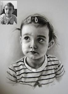 Portret ręcznie malowany te...