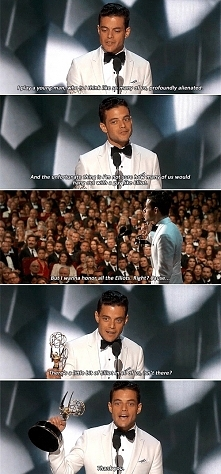 Rami Malek wins Emmy for Outstanding Lead Actor in a Drama Series (2016)