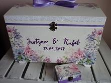 kufer na koperty + pudełko na obrączki  fb - justiness.art justiness.glt.pl