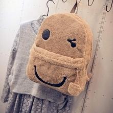 pluszowy plecak uśmiechnięt...