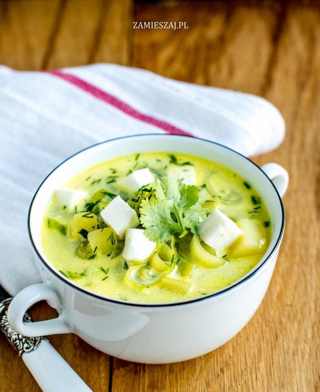 Zupa porowa z fetą - Przepis dostępny po kliknięciu w zdjęcie