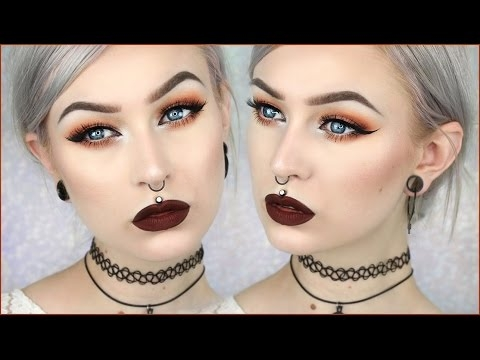 Grunge Glam Autumn Leaves Makeup   Evelina Forsell