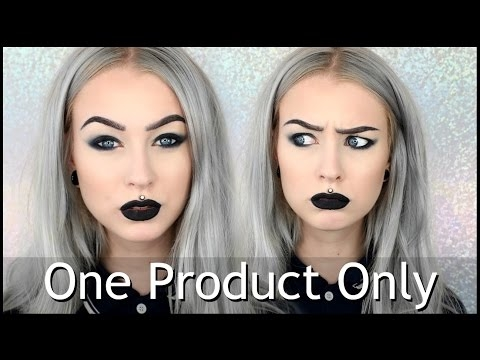 Full Face Only Using Eyeliner   One Product Only
