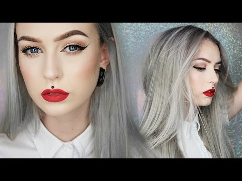 Classic Cat Eye; Red Lip   NEW HAIR    Evelina Forsell