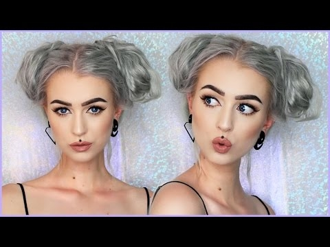Messy Space Double Buns   Hair Tutorial