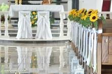 dekoracje ławek na ślub, de...