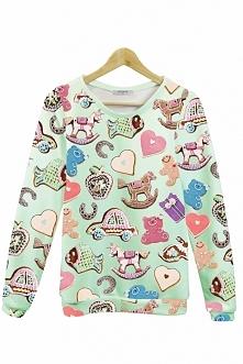Bluza z cukierkami. Hit tego sezonu! Piękny wzór i idealny materiał, to prawdziwie słodka bluza. Sprawdź sama.