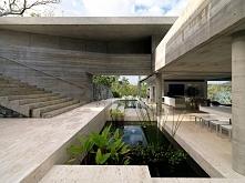 Nowoczesna luksusowa willa, prosty design, betonowa forma budynku, wewnętrzne...