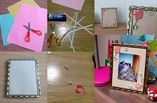 Quilling Co potrzebne: różnokolorowe kartki bloku rysunkowego, klej, nożyczki, ramka lub zwykły blok techniczny. Sposób wykonania: z kolorowych bloków wycinamy długie paski o gr...