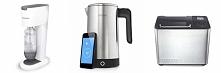 pomysły na prezent ślubny: urządzenie do robienia wody gazowanej, czajnik iKettle obsługiwany smartfonem, maszyna do wypieku chleba i inne po kliknięciu w fotkę