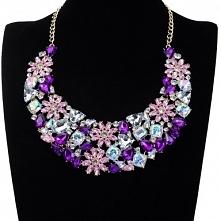 Fashion Gold Chain Acrylic Crystal Collar Choker Statement Pendant Bib Necklace