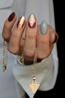 Paznokcie wykonane lakierami hybrydowymi Semilac :) [więcej info po kliknięci...