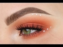 Pink; Orange Blown Out Eyeshadow