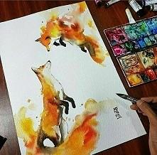 lisy z farby akwarelowej