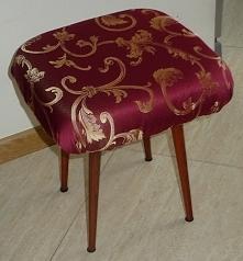 taboret patyczak przerobiony na podnóżek do fotela