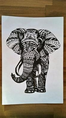 Słoń tatuaż - Wzorowane