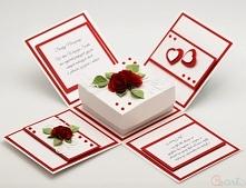 Kartka na ślub pudełko zako...