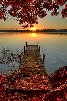 zachodzące słońce jesienią :)