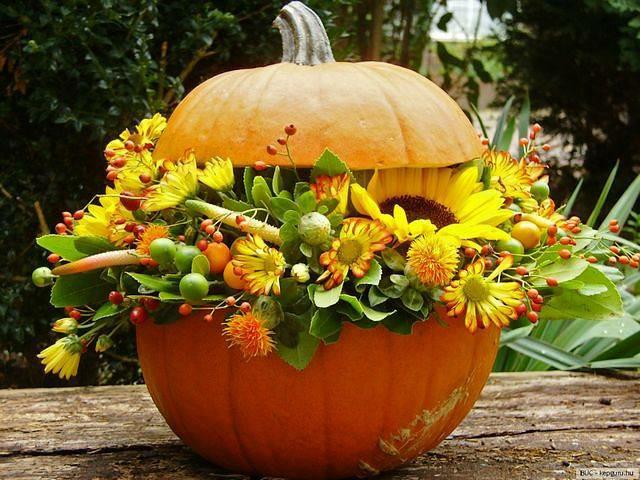 Piękny wazon z Dyni... Moim zdaniem przykrywka zbędna...