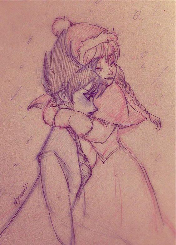 Pierwotna wersja Elsy i Anna