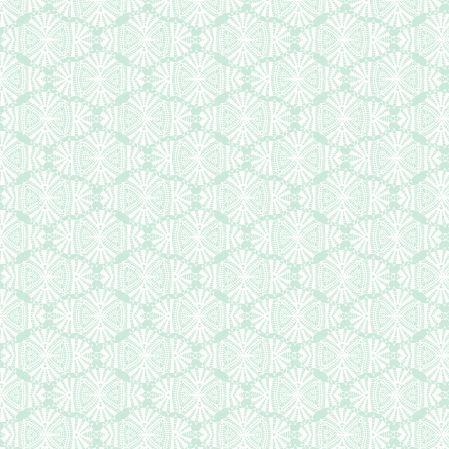 Tkanina bawełniana Mięta w koronkach (kliknij, żeby kupić)