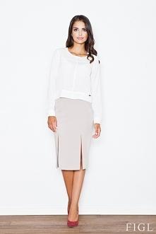 Piękna spódnica z rozcięciami. Idealna na spotkanie biznesowe. Będziesz wyglądać w niej modnie, a do tego poczujesz się zmysłowo i kobieco.