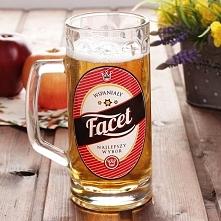 Kufel do piwa szklany WSPAN...