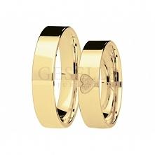 Niezwykła para złotych obrączek ślubnych z serduszkiem - nowość w kolekcji GESELLE Jubiler You&Me