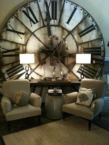Stylowy salon z zegarem w tle - zainspiruj się! Zapraszam do wpisu na blogu P...