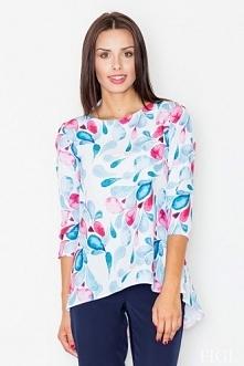 Kolorowa asymetryczna bluzka damska