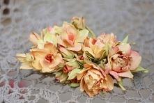 ręcznie robione kwiaty - scrapbooking, cardmaking