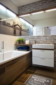 super pomysł na małą łazienkę :D