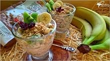 Bardzo owocowe i zdrowe owsiane pucharki z chia. Przepis w dwóch wersjach. *przepis po kliknięciu w zdjęcie