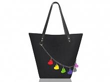 Czarna torba z filcu od modeMania
