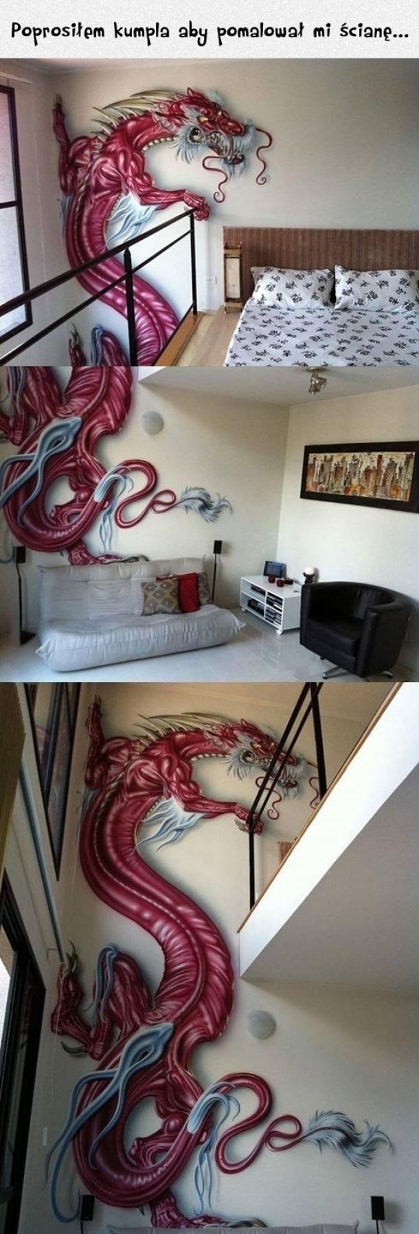 Kiedy poprosisz kumpla o pomalowanie ściany...
