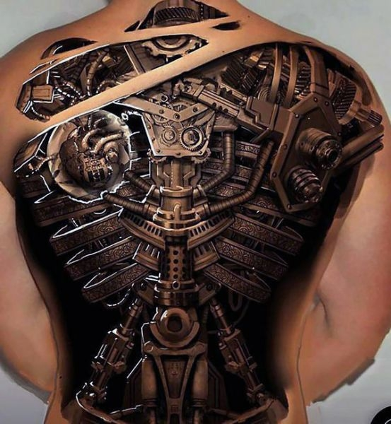 Incredible Biomechanical Tattoo Na Tatuaże Zszywkapl