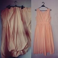 Jak zwykle sukienkę uszyłam ze starej pościeli :) Sukienka jest długa dlatego...