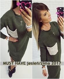 TRENDY KHAKI , jak Wam dziewczyny podoba się propozycja na jesień ? Sukienka w kolorze khaki z designerską kieszonką :*