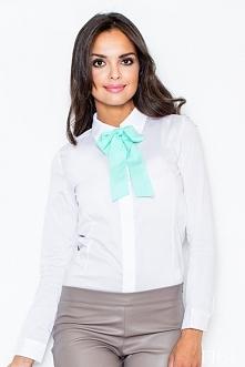Koszula z wiązaniem pod szyją. Idealna do pracy a także na spotkania biznesowe.Szyk i elegancka w jednym.