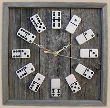 Oryginalny zegar z domina , przykuwa uwagę i perfekcyjnie odmierza czas ;)