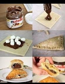 Uwielbiam nutelle ♡ a w połączeniu z ciastem francuskim..? Niebo w (..) buzi ♡♡♡
