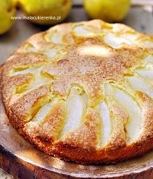 Ciasto z gruszkami i serkiem. Przepis po kliknięciu w zdjęcie.