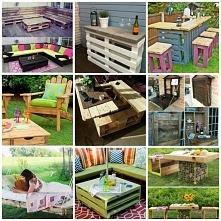 Jeeeeeejku :) różne rodzaje wykorzystania palet np. stolik kawowy, krzesła, s...