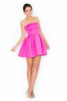 Rozkloszowana sukienka bez ramiączek. Przepiękna sukienka, w której poczujesz się jak prawdziwa księżniczka! Sukienka z tyłu zapinana na suwak. Idealna sukienka na wesele albo i...