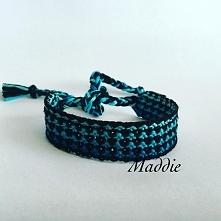 Niebieskie ombre - Bransoletka z muliny