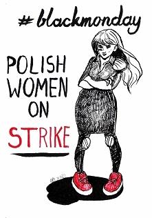 Inktober Dzień 3 - #czarnyprotest