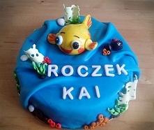 Prześliczna Rybka Mini Mini wylądowała na tortach Cioci Soni, po więcej zapraszam na Facebook @Torty Cioci Soni