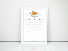kalendarz do wydruku na pażdziernik + tekstury z jesiennym motywem do pobrania